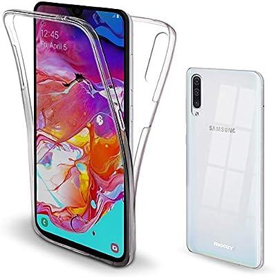 Moozy Funda 360 Grados para Samsung A70 Transparente Silicona ...
