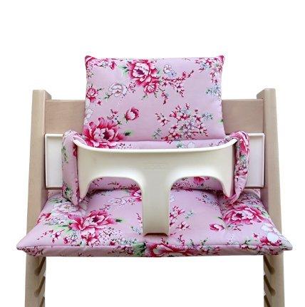 Blausberg Baby - Cojín para la trona Tripp Trapp - Happy Flower rosa