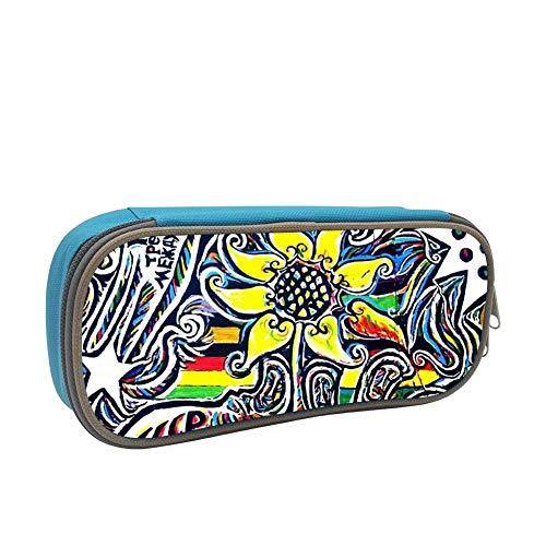 (HHpsjn Pencil Case Berlin-Wall Pen Box Stationery Bag Blue for Girl)