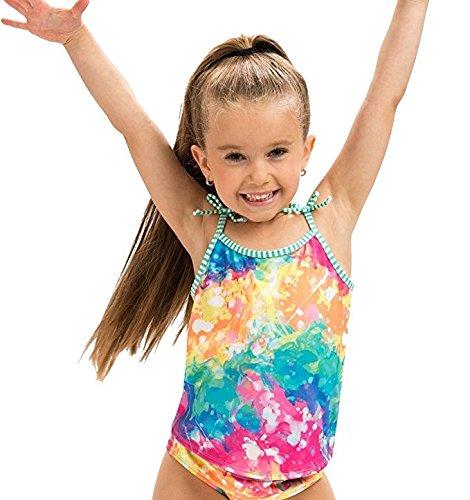 (Dolfin Girl's Uglies Tankini Swimsuit (Rainbow Drop, 14))