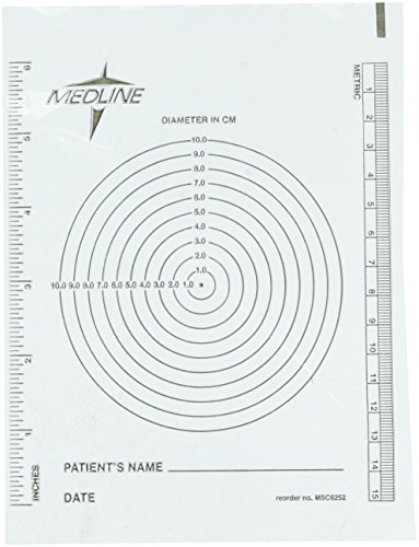 Disposable Wound Measuring Guides, 250 sheets per