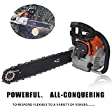 Chainsaw 62cc 20'' Gas Powered Chainsaw 2 Strokes 4.2HP Hand Held Gas Chainsaws Handed Petrol Chain Saw for Farm, Garden and Ranch Red (US Stock)