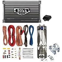 Boss AR2400.4 2400W 4-Ch Car Amplifier + Remote + 2.0 Farad Capacitor + Amp Kit