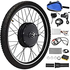 """DescriptionThis is our 26"""" x 1.95"""" front/rear wheel electric bicycle motor kit which will bring your perfect cycling experience.The 48V 1000W powerful brushless hub motor with a speed of 17.5-21mph can make you fully enjoy the pleasure of rid..."""