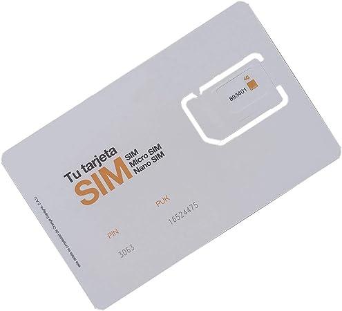 ORANGE Tarjeta Sim Prepago con Internet 3GB + 3 Euro Tarifa Bono Mundo Esencial Incluido Roaming en Unión Europea Alta Velocidad 4G: Amazon.es: Electrónica