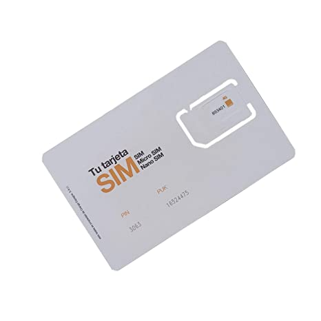 ORANGE Tarjeta Sim Prepago con Internet 3GB + 3 Euro Tarifa ...
