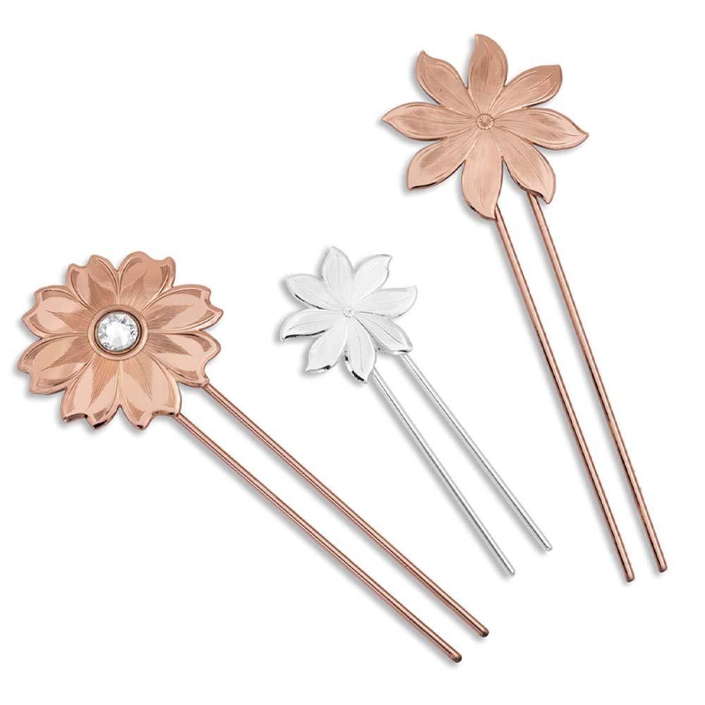Montana Silversmiths Wild Flower Hair Pin Set by Montana Silversmiths