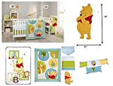 7-pieces Disney Pooh Play Day Custom Crib Bedding Bumper, Blanket Wall Art set