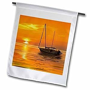 Danita Delimont - Sailing - Florida, Crystal Beach, Resting sailboat - US10 DSN0006 - Deborah Sandidge - 18 x 27 inch Garden Flag (fl_89097_2)