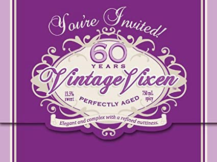 Creative Converting Vintage Vixen 8 Count 60th Birthday Party Invitations