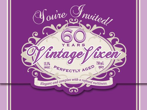 Creative Converting Vintage Vixen 8 Count 60th Birthday Party Invitations]()