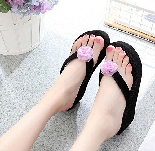 Suelas más gruesas zapatillas sandalias de playa con sandalias de flores de moda zapatillas cool 2