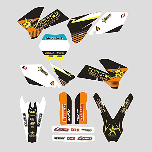 JFG RACING Custom Motorcycle Complete Adhesive Decals Stickers Graphics Kit For KTM 125 150 250 350 450 SX SX-F SXF XC XC-F XCF 2005 2006 -