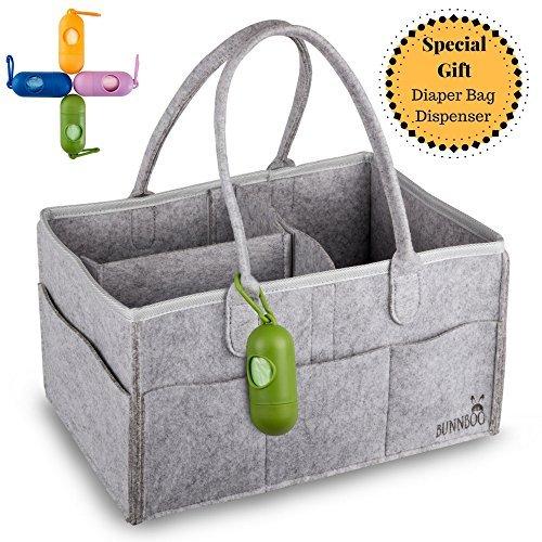 Organizador de pañales para bebé, portátil, cambiador de mesa, cesta de almacenamiento para guardería, toallitas,...