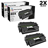 LD Compatible Toner Cartridge Replacements for HP 80X High Yield (Black, 2-Pack)