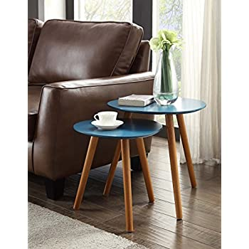 Convenience Concepts Oslo Nesting End Tables, Blue