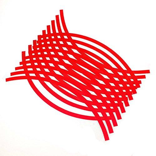 Susenstone® 18 Strips Motorcycle Car Wheel Stickers Reflective Rim Tape - Rims C3