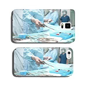 Surgical operation in action. View from the side assistant cell phone cover case iPhone6