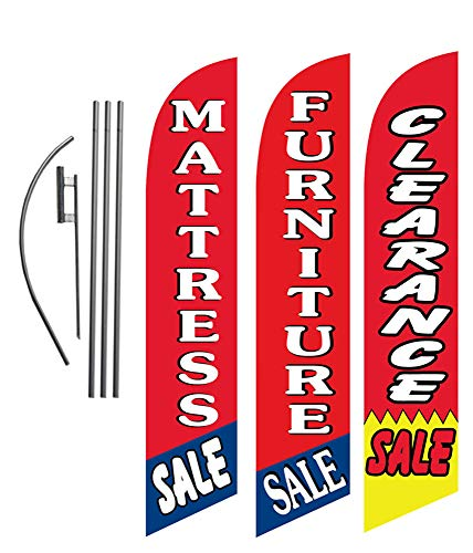 Rope and Taped Hemmed Sides 3 x 10 B20FUR Furniture Sale Red Yellow Indoor Outdoor Banners Furniture and Retail Business Store Signs 13 oz Heavy Duty Vinyl Gloss Banner with Metal Grommets