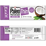 Paleo Protein Bar® (Coconut Cream) 12 Bars (20g Egg White Protein) 5 Net Carbs (Organic Prebiotics/Probiotics)