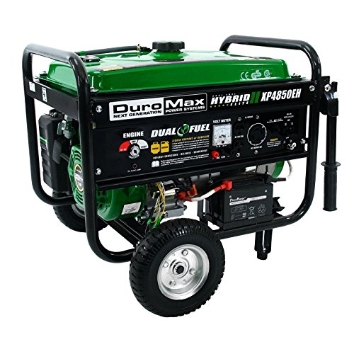 DuroMax Portable Dual Fuel Generator - 4850 Surge Watts, 3850 Rated Watts, Electric Start, CARB and EPA-Certified, Model XP4850EH