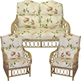 Gilda Replacement HUMP TOP SUITE Cane Furniture COMPLETE CUSHIONS ONLY Conservatory wicker rattan