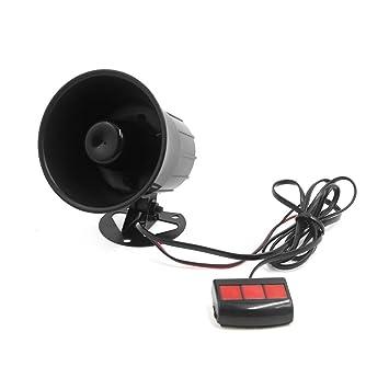Bocina, altavoz para Altavoz con altavoz a Trompeta para coche a 12 V 15 W 3 Tone con mando a distancia: Amazon.es: Coche y moto