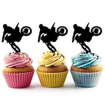 Extreme Sport Motocross Cupcake Cake Topper para tartas ...