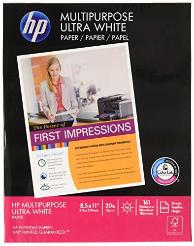 HP Multipurpose Paper, 8-1/2 x 11 Inches, 96 Bright, 500 Sheets/Ream (112000)