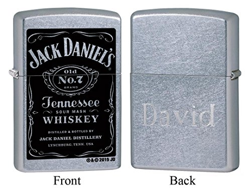 Personalized Zippo Jack Daniel's Old No. 7 Label Lighter with Free Engraving ()