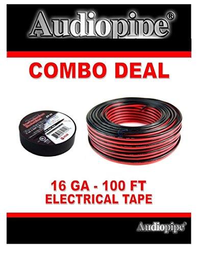 "16 Gauge 100 Feet Red Black Speaker Wire and 3/4"" x 60' Blac"