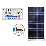 ACOPOWER 35 Watt Panel Build Your Solar Charger in One Stop (10A 35W Kit), PWM10A For Sale
