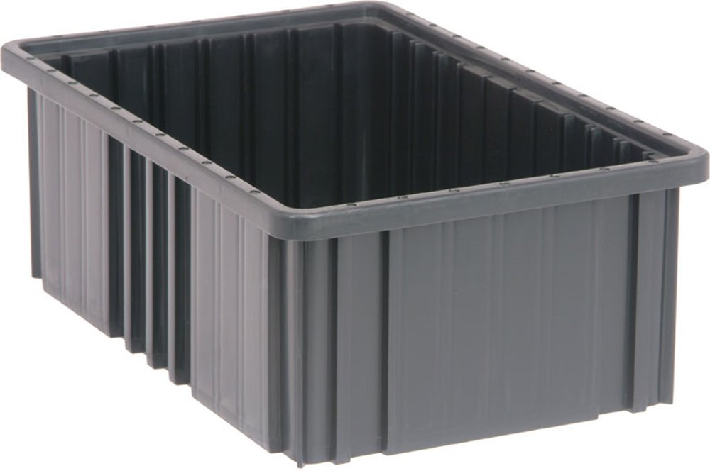 Quantum Storage Systems DG92060CO Dividable Grid Container 16-1/2-Inch Long by 10-7/8-Inch Wide by 6-Inch, Black Conductive, 8-Pack
