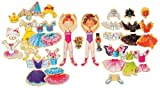T.S. Shure Daisy Girls Ballet Wooden Magnetic Dress-Up Dolls