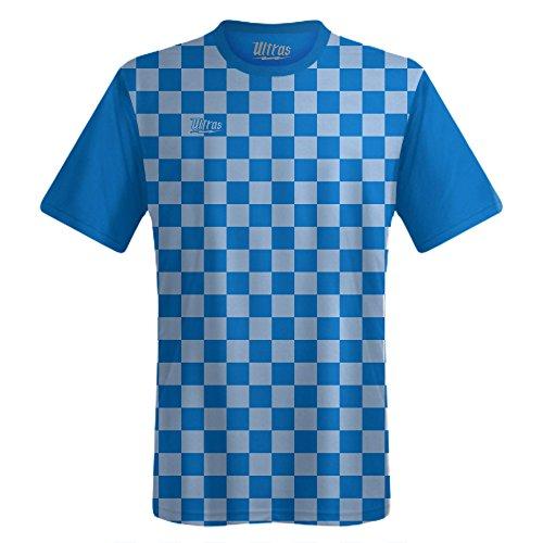 Ultras Custom Checkerboard Team Soccer Jersey, Royal/Blue-Carolina, Adult Large (Checkerboard Royal Blue)