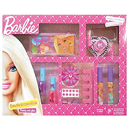 Mattel Estuche De Cosmeticos Grande Para Nina En Caja Barbie Amazon