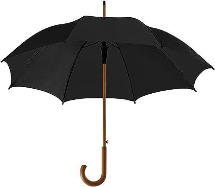 Coloured Automatic Plastic Crook Handle Umbrella Brolly Walking Wedding Outdoor