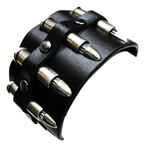 leather bullet bracelet - 8