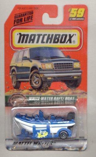 Matchbox 1999-59/100 Series 12 Wilderness Adventure WHT/BLUE White-Water Raft/Boat 1:64 Scale