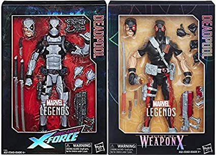 US SHIP Marvel Legends Comic Super Hero X Force Deadpool Gray Suit Action Figure