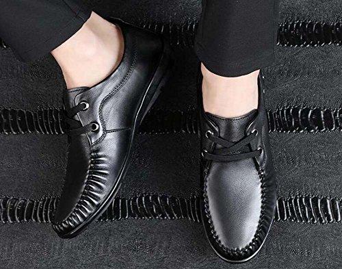 Perezosos Primavera Verano Mediana pies Conjuntos Zapatos Suaves Color Zapatos de Guisantes Negro de 43 de y Conducción Zapatos Padre Edad Hombres Tamaño de Zapatos para de Hq7wr10H