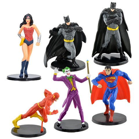 Batman Zero Year Costume (6 Figurines bundle DC Comics 2.25-in. : Batman, Wonder Woman, Superman, The Joker and the Flash.)