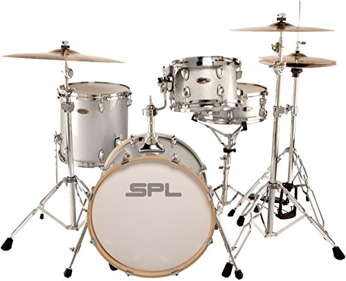 - Sound Percussion Labs Street Bop Birch Ply 4-Piece Shell Pack Silver Metallic Glitter