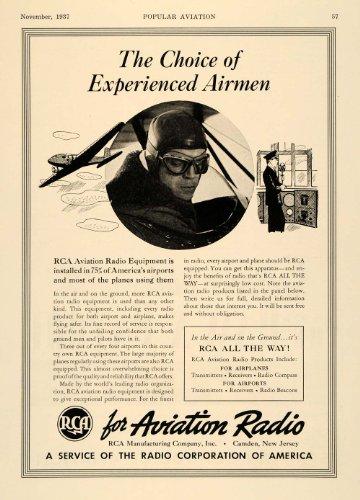 1937 Ad RCA Aviation Radio Equipment Airplane Parts - Original Print Ad