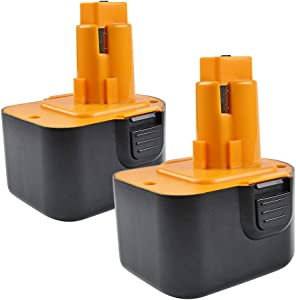 Bonadget 2 Pack 3000mAh PS130 Replacement Battery Compatible with Black & Decker PS130A Firestorm A9252 A9275 12V Pod Style Battery