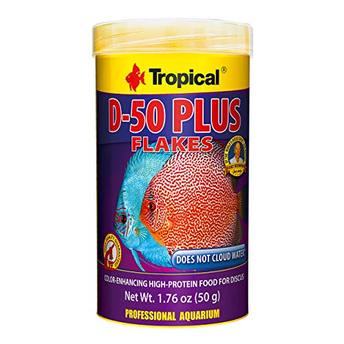 Tropical USA D-50 Plus Flakes Fish Food Tin, 50g
