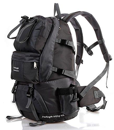FreeKnight Professional Waterproof Outdoor Sports 40L/50L Shoulder Bag Backpack Rucksack Daypack For Biking Cycling Traveling Camping Hiking Climbing (50L-Black)