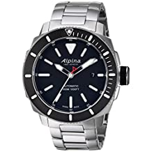 Alpina Men's 'Seastrong' Swiss Automatic Stainless Steel Diving Watch, Color:Silver-Toned (Model: AL-525LBG4V6B)