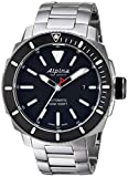 Alpina Men's 'Seastrong' Swiss Automatic Stainless Steel Diving Watch - Color:Silver-Toned (Model: AL-525LBG4V6B)