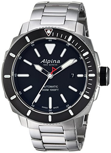 Alpina Men's Seastrong Swiss-Automatic Diving Watch with Stainless-Steel Strap, Silver, 0.87 (Model: ()